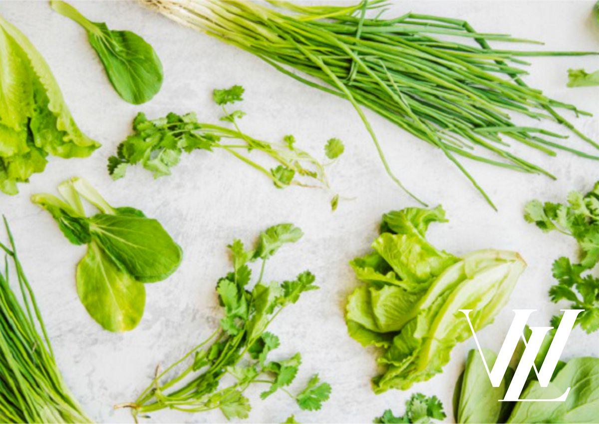 Зеленые листовые овощи